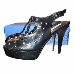 SimplyVera Rockstar peep toe heels